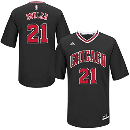 0597dacd Chicago Bulls Jimmy Butler Adidas Black Alternate Youth Replica Jersey  (Medium)
