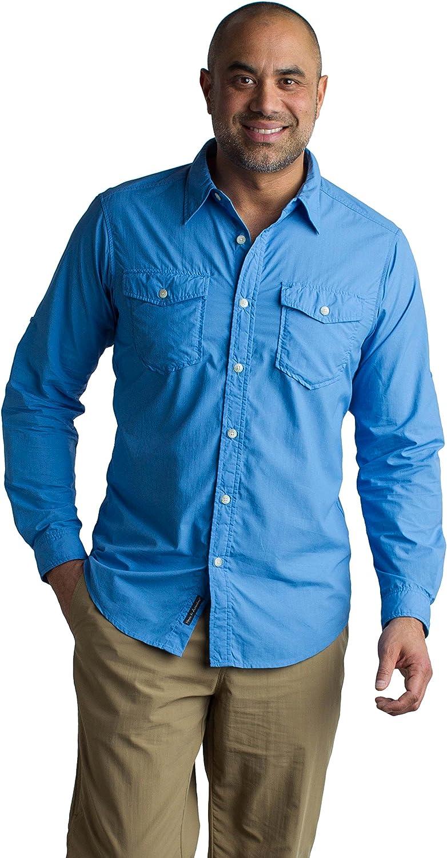 XX-Large ExOfficio Mens BugsAway Briso Lightweight Long-Sleeve Shirt Dusty Sage