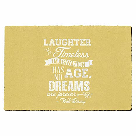 Amazon Com Laughter Is Timeless Walt Disney Quote Yellow Small