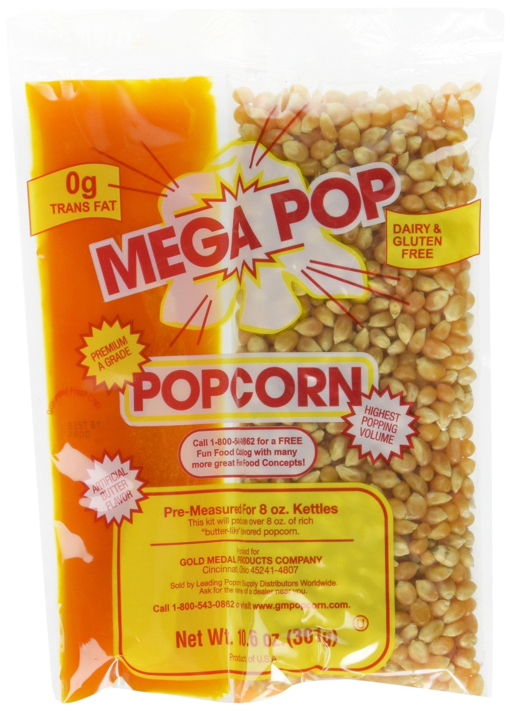 Gold Medal Products Co 24Ct  Coconut Oil Kit 2838 Popcorn (10.6oz of kernels; pre-measured for 8oz kettles)