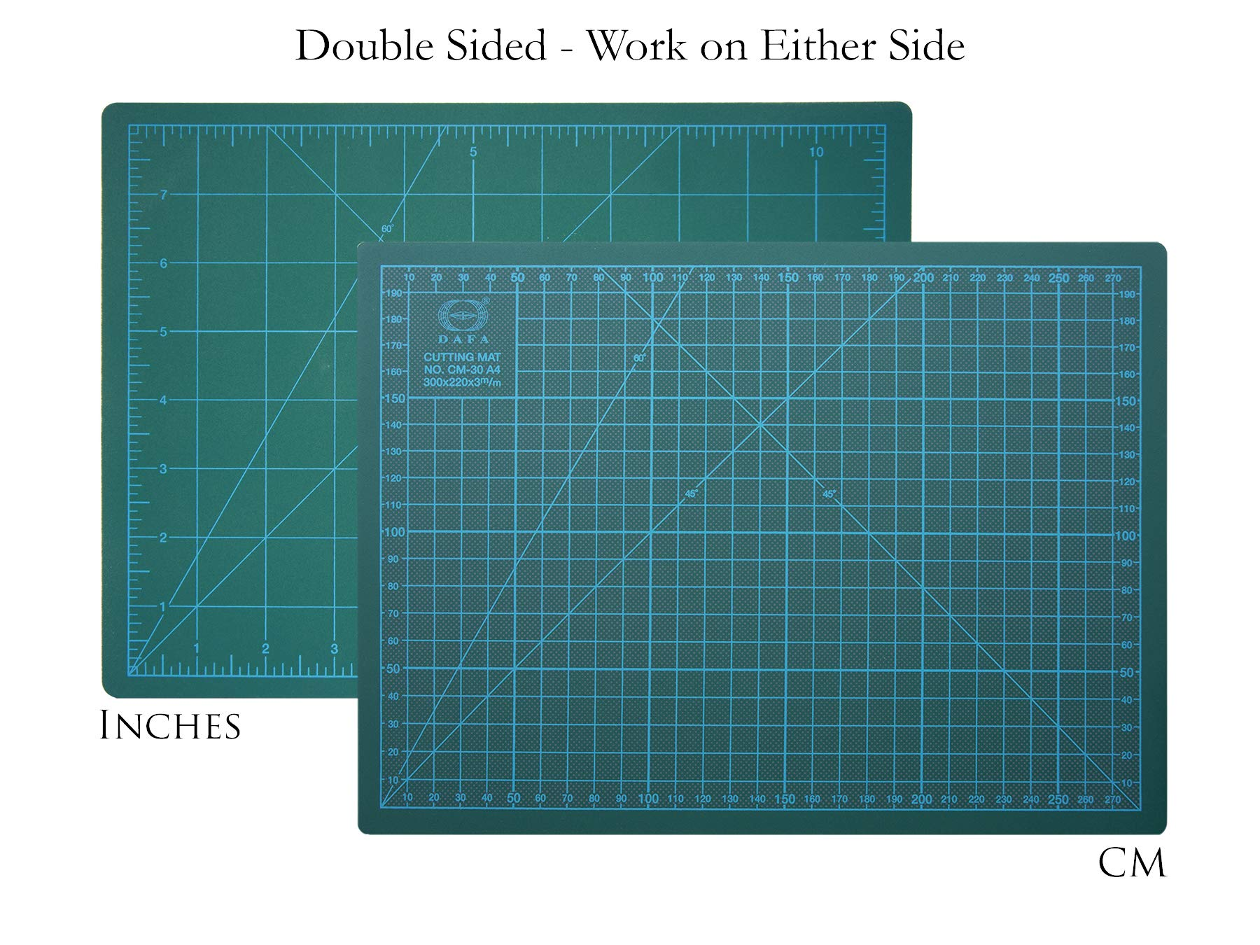 DAFA Professional 36'' x 24'' Self-Healing, Double-Sided Cutting Mat, Rotary Blade Compatible, (36x24), (24x18), (18x12), (12x9) Sizes, for Sewing, Quilting, Arts & Crafts by DAFA (Image #3)