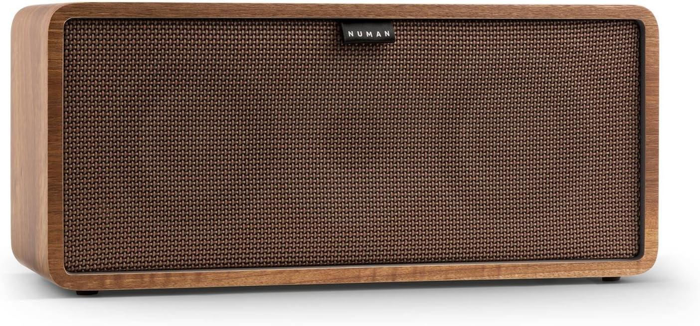NUMAN Retrospective 1979-S 5.1 Soundsystem Heimkinosystem Lautsprecher-Set 4X Regallautsprecher, 1x Center-Lautsprecher, 1x Subwoofer, Retro-Design, inkl. braunem Cover walnuss