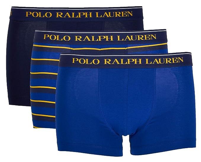 Paquet De Boxers Ralph Lauren CotonBleu Tronc Homme Polo 3 vm0Nn8w