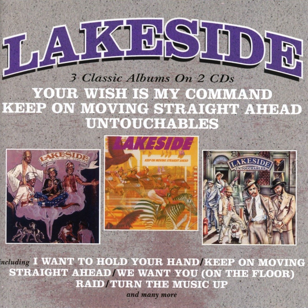 CD : Lakeside - Your Wish Is My Command / Keep On Moving Straight Ahead / Untouchables (United Kingdom - Import, 2PC)