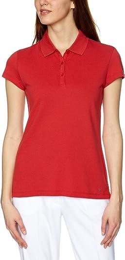 Tommy Hilfiger - Polo para Mujer, tamaño S, Color Cardinal ...