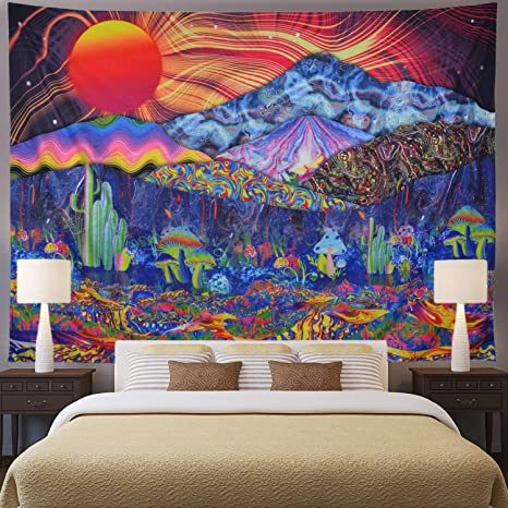 Colorful Art Tapestry Wall Hanging Form Bedroom Dorm Room Decor 2 Sizes