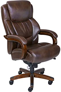 La Z Boy Delano Big U0026 Tall Executive Bonded Leather Office Chair   Chestnut