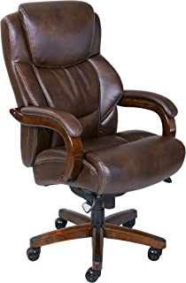 La Z Boy Delano Big u0026 Tall Executive Bonded Leather Office Chair - Chestnut (Brown  sc 1 st  Amazon.com & Amazon.com: Embroidered High Back Traditional Tufted Leather ...