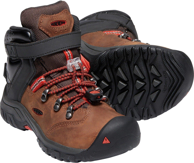 KEEN - Kid's Torino II Mid Waterproof Winter Boots, Tortoise Shell/Fiery Red, 8 M US Big Kid by KEEN (Image #2)