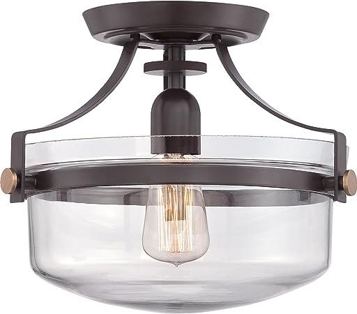 Amazon.com: Lámpara de vidrio redonda Quoizel ...