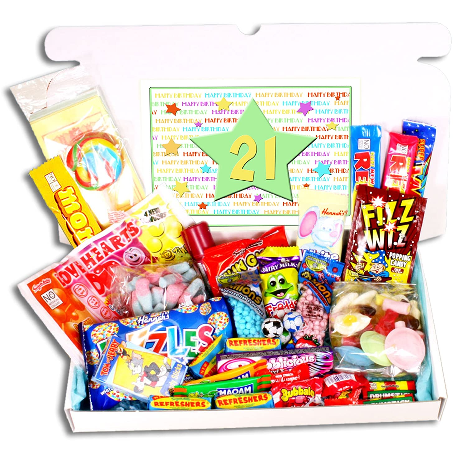 21st Birthday Sweets Gift Box Amazoncouk Grocery