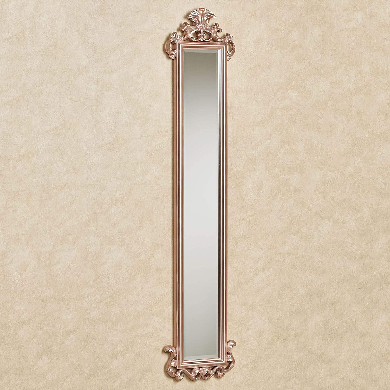 Amazon Com Touch Of Class Carolina Scroll Wall Mirror Panel Rose Gold Home Kitchen