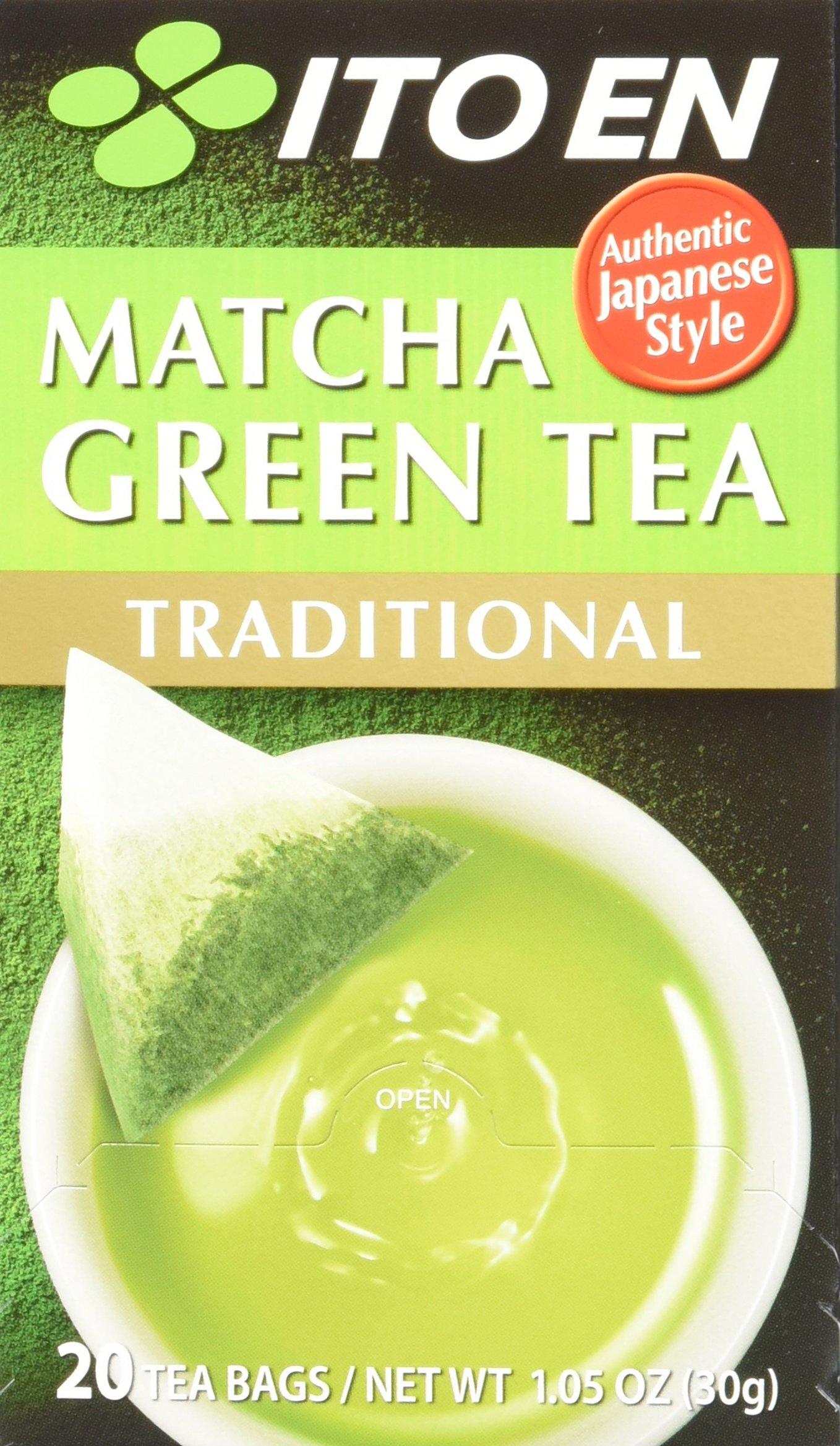 Ito En Matcha Green Tea Traditional 20Count (Pack of 8) Zero Calorie No Artificial Sweeteners Caffeinated Good Source of Vitamin C & Antioxidants BPA Free