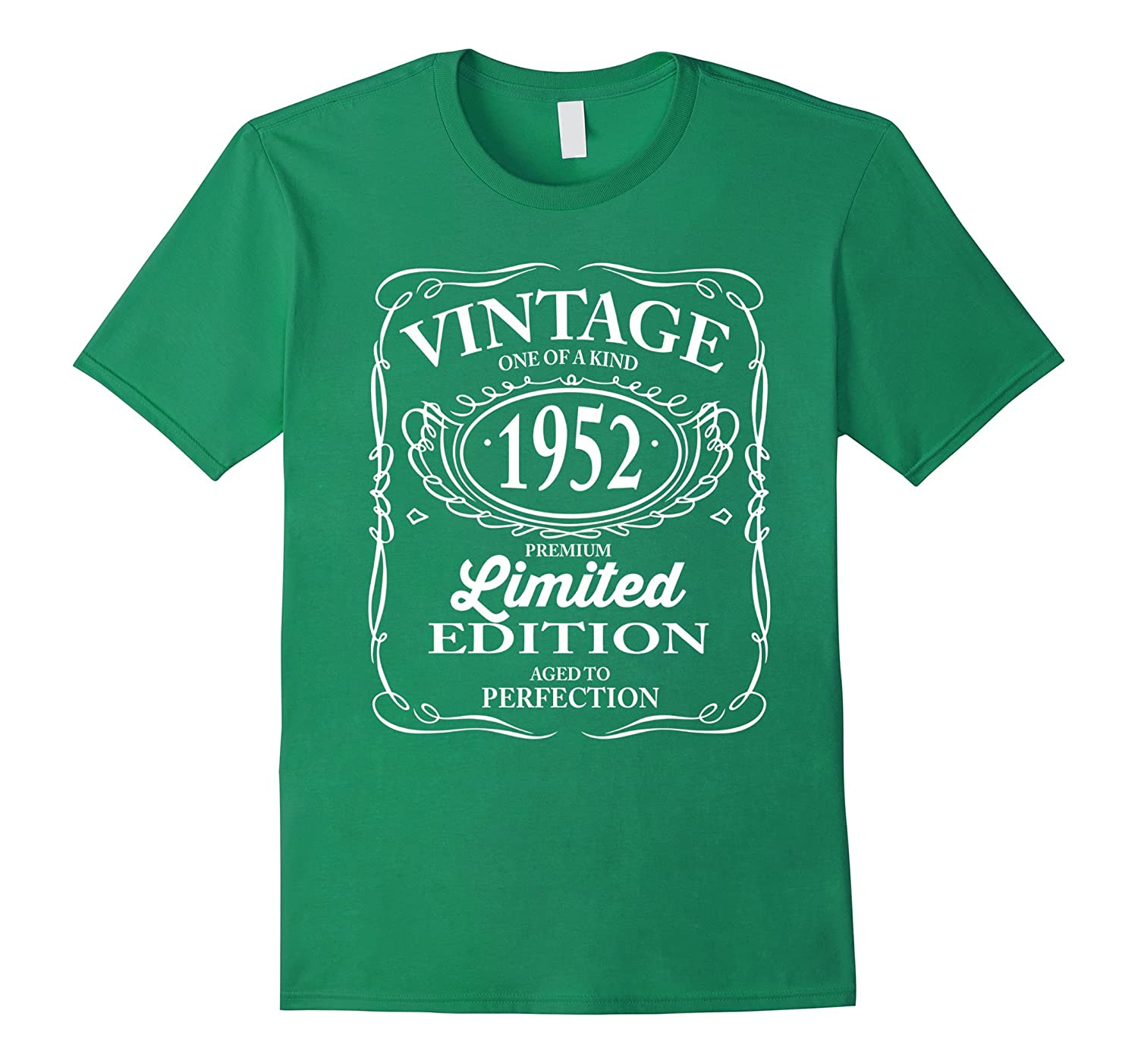 Vintage One Of a Kind 1952 Funny 65th Birthday T shirts Men-Vaci