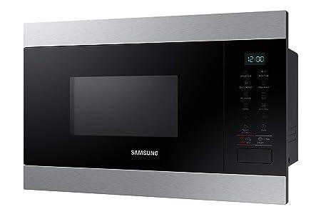 Samsung MG22M8074CT - Microondas de integración / encastre, 850W/1100W, 22 litros, interior de cerámica enamel, color inox