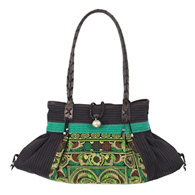 Novica Cotton shoulder bag, Lucky Paradise