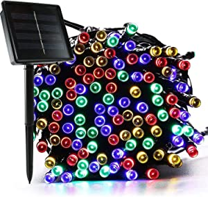 jar-owl Solar String Lights Outdoor Waterproof 72FT 200 LED 8 Modes for Home/Garden/Patio Wedding/Christmas Party (Multicolor)