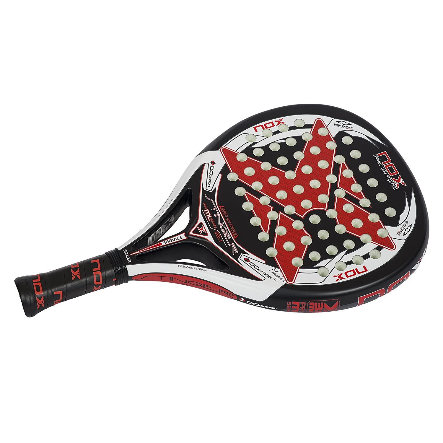 Amazon.com : NOX Stinger 2.1 Padel Tennis Racquet, Black ...