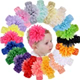 18pcs Baby Girls Headbands Chiffon Flower Soft Strecth Hair Band Hair Accessories for Baby Girls Newborns Infants…
