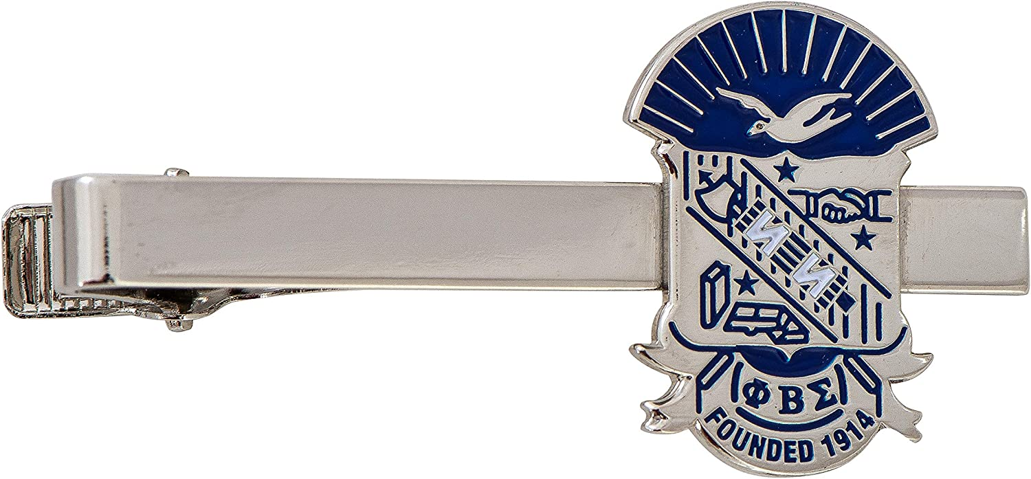 Desert Cactus Phi Beta Sigma Fraternity Silver Crest Tie Bar Greek Formal Wear Blazer Jacke
