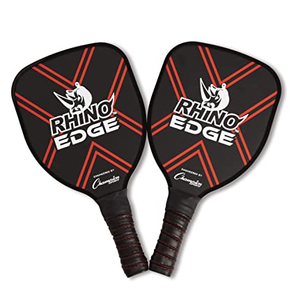 Champion Sports Wooden Pickleball Paddle Set: Rhino Edge Wood Pickleball Paddle - Indoor/Outdoor