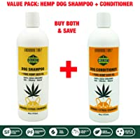 Uncle Bud's All Natural Hemp Dog Shampoo & Conditioner Value Pack PARABEN Free, SULFATE Free, GMO Free