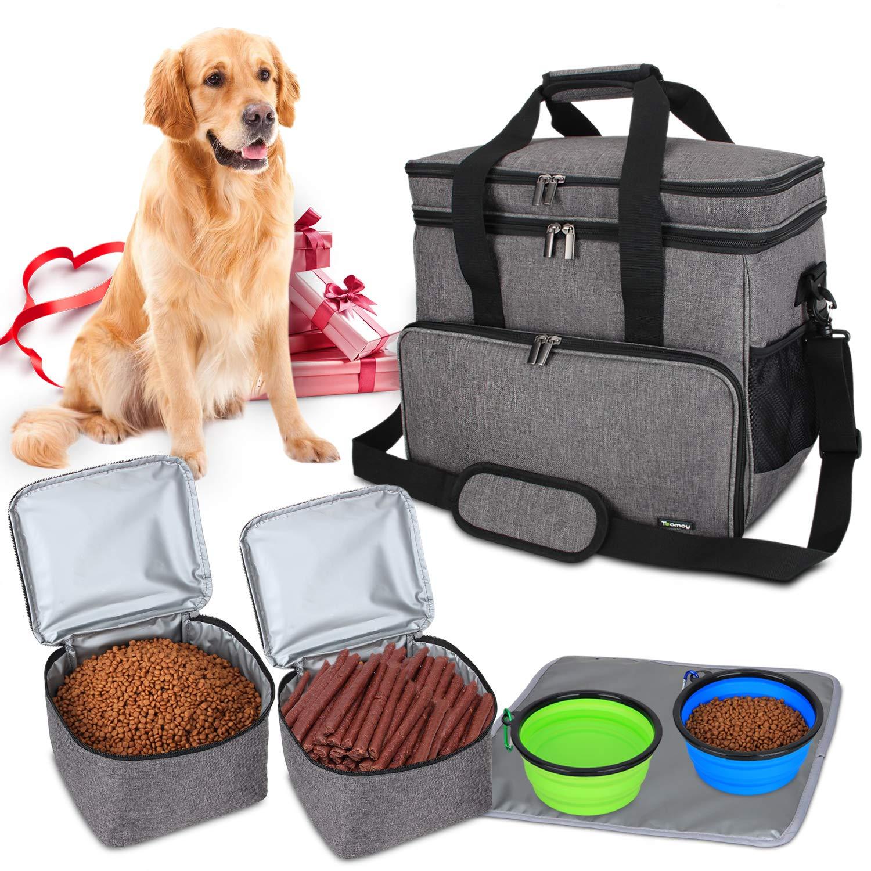 Reisetasche für Hundeausrüstung, Hundetasche für die Groß,  (Groß, grau)