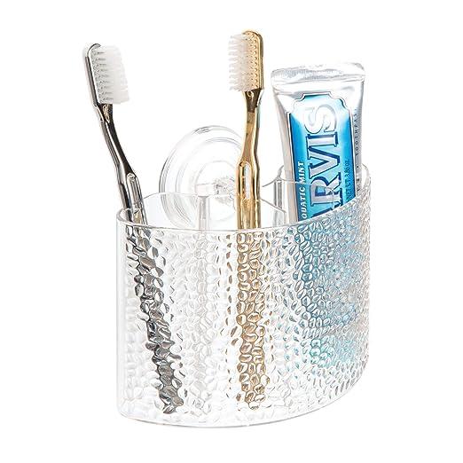 InterDesign Rain Porta cepillos dentales con ventosas, Colgador de ...