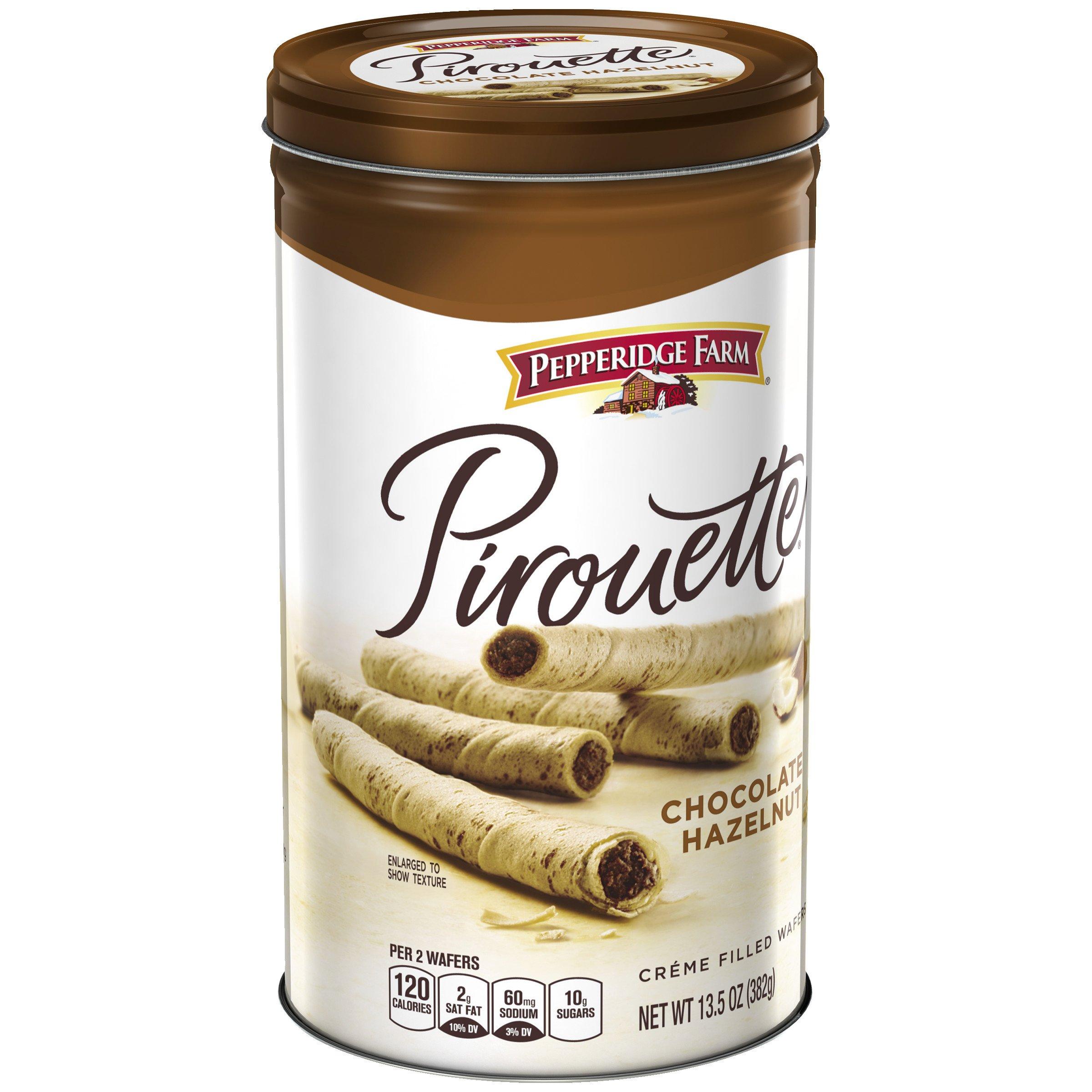 Pepperidge Farm, Pirouettes, Cookies, Chocolate Hazelnut, 13.5 oz, Tin