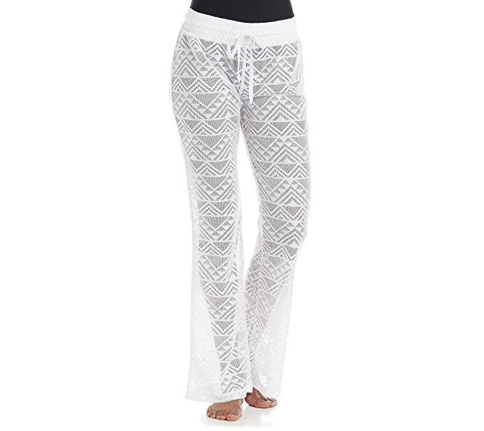 Miken Crochet Cover Up Beach Pants X Small At Amazon Womens