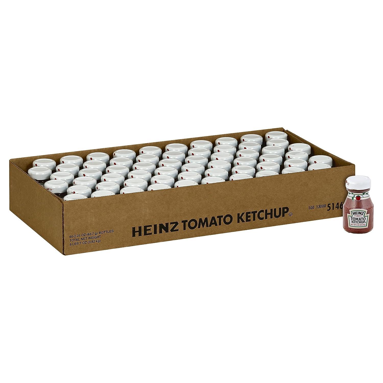 Amazon.com : Heinz Ketchup, 2.25 oz. Roomservice Bottle, Pack of 60 ...