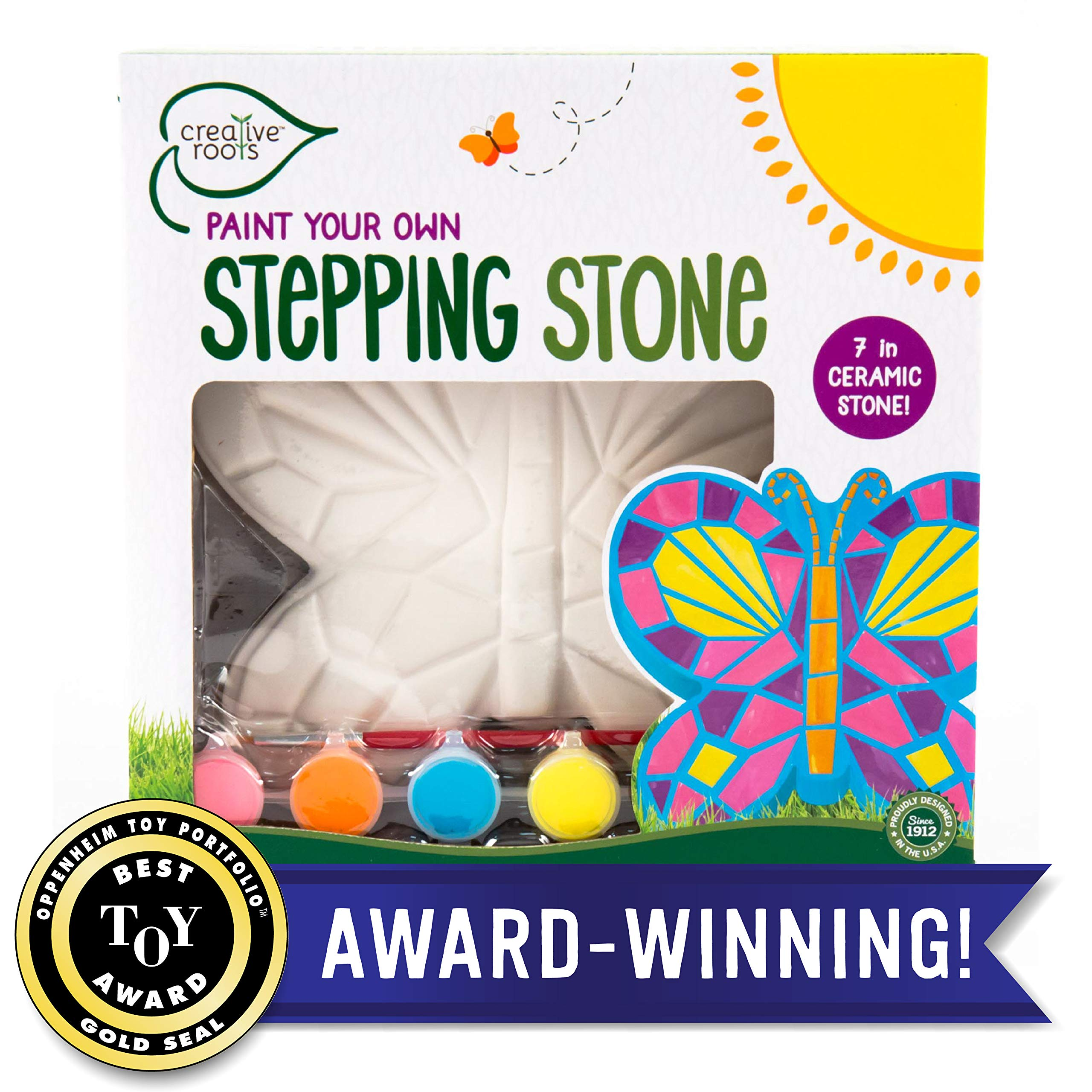 Creative Roots Mosaic Butterfly Stepping Stone by Horizon Group USA