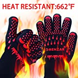 BBQ Gloves,Heat Resistant Gloves Pizza Oven Mitts Cooking Gloves by Comenzar