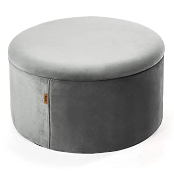 Prime Kvell Boto Storage Ottoman Modest Grey Gmtry Best Dining Table And Chair Ideas Images Gmtryco