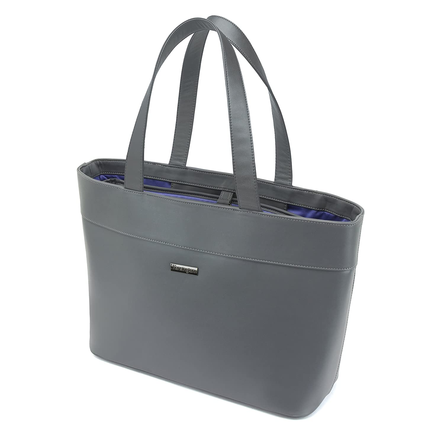 Kensington K62615WW LM650 Fashionable Laptop and Tablet Tote, 15-Inch, Grey with Blue Interior