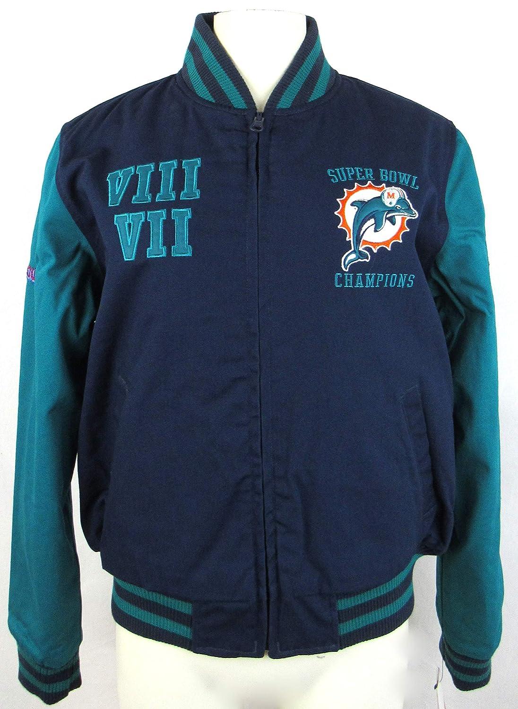g-iii Miami DolphinsレディースXLフルZip刺繍リバーシブル2時間Super Bowl ChampionsジャケットAdol 10 XL   B01EK4FE5C