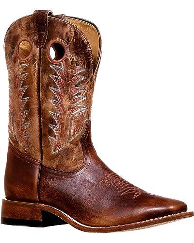 fd64989f42d Amazon.com | Boulet Men's Challenger Stockman Cowboy Boot Square Toe ...