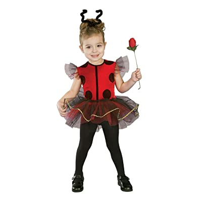 Forum Novelties Baby Girl's Lil Lady Bug Toddler Costume, Red/Black: Clothing