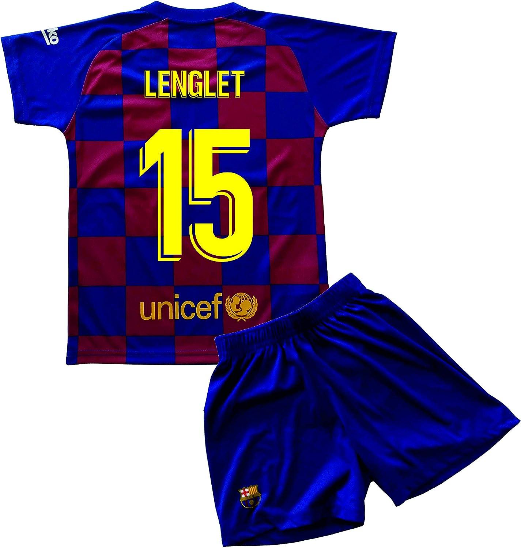 Jugadores Champions City Kit Camiseta y Pantal/ón Infantil Primera Equipaci/ón R/éplica Autorizada FC Barcelona