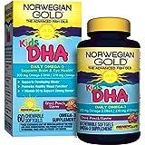 Norwegian Gold - Kids DHA Omega 3 supplement - 60 chewable fruit punch softgels - Renew Life brand