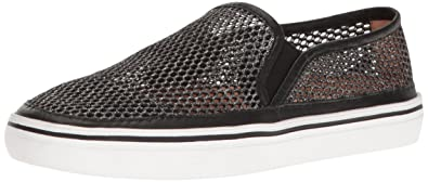 kate spade new york Women's Sallie Fashion Sneaker, Black Metallic Mesh, ...