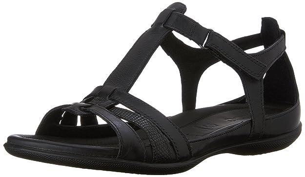 ECCO Women's Women's Flash T-Strap Sandal, Black, 42 EU/11-11.5 M US