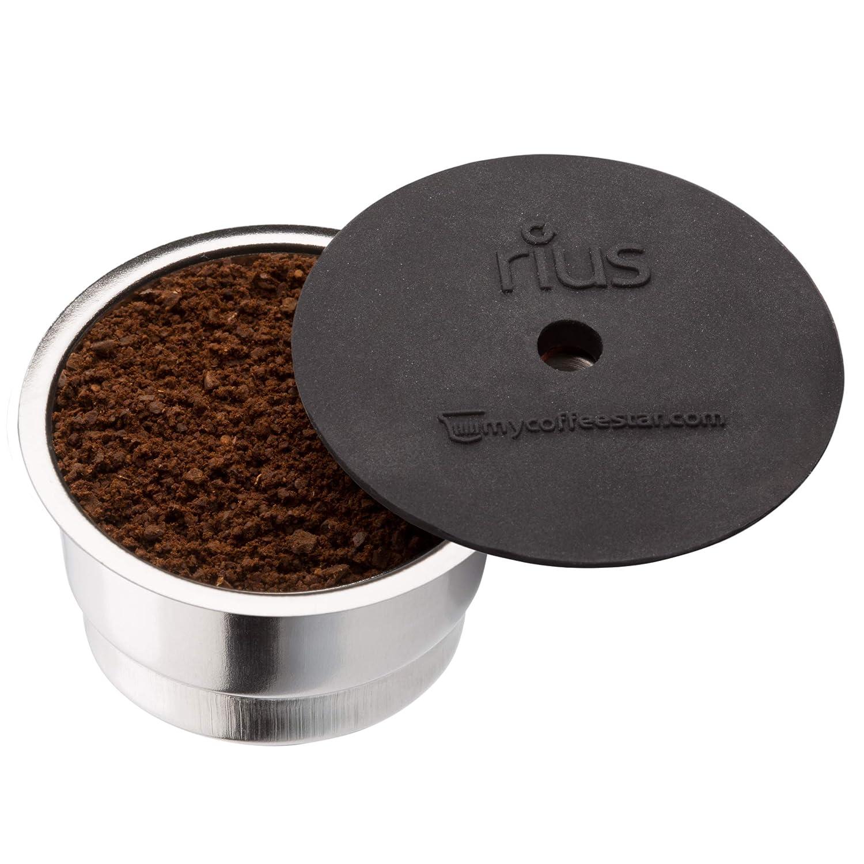 2 RIUS: 2 cápsulas recargables para máquinas de café CAFISSIMO® de las máquinas de café TCHIBO y CAFFITALY®