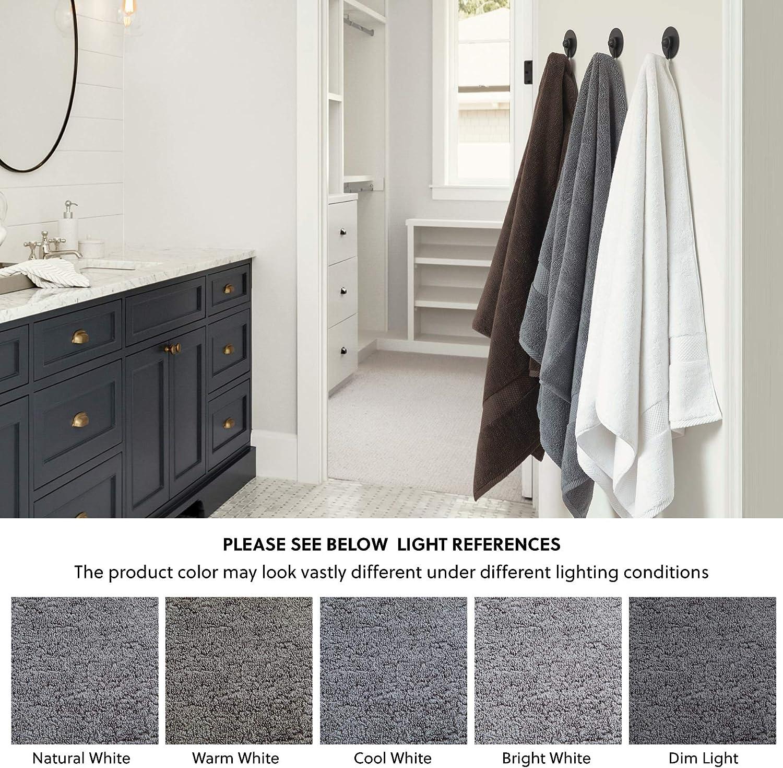 Bedsure Bath Towels Sets for Bathroom, Combed Cotton Bathroom Towels Set - 10 Pack, 2 Bath Towels 27x54, 2 Hand Towels 16x30, 6 Wash Cloths 13x13, Absorbent & Soft - Grey: Kitchen & Dining