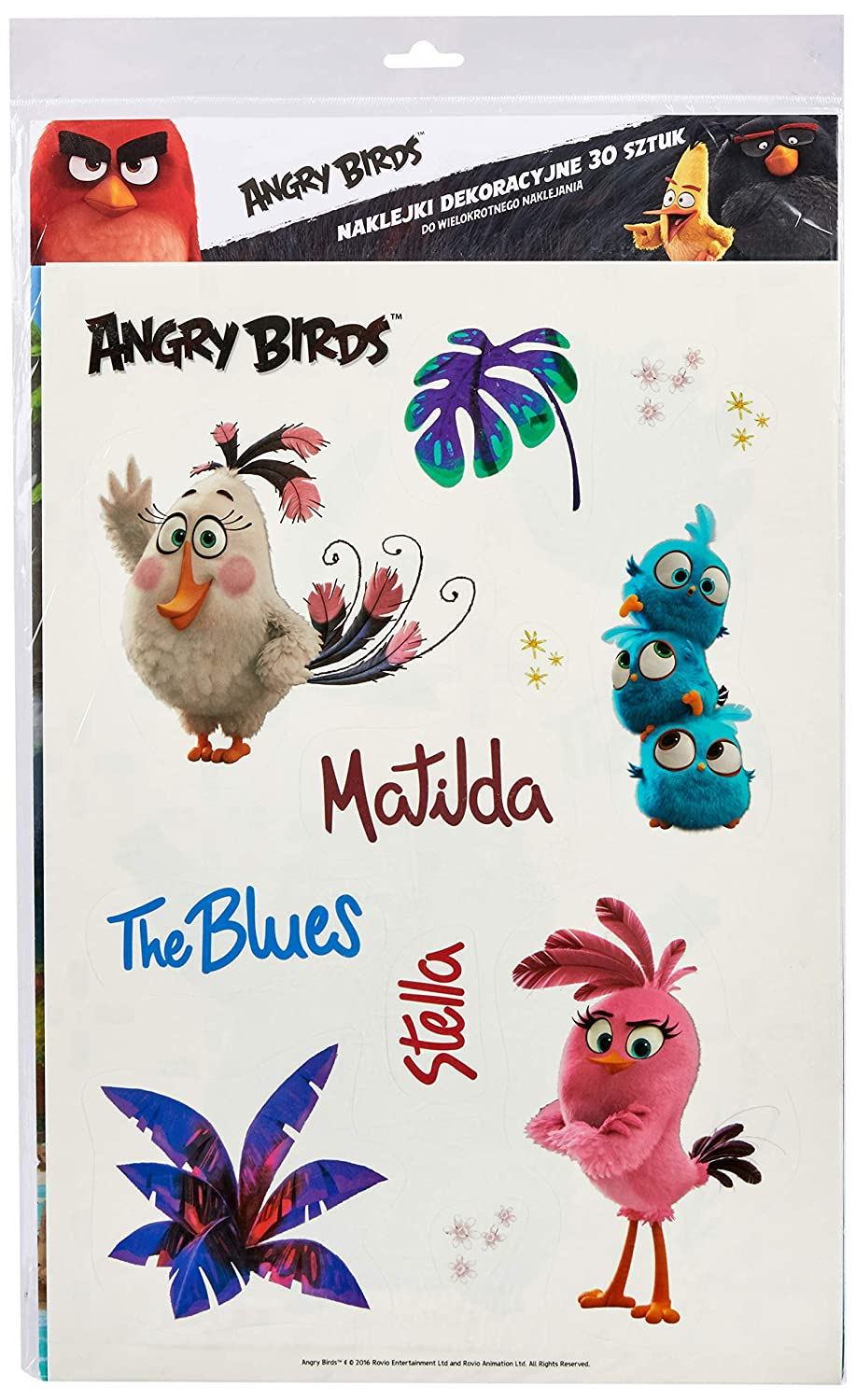 Interdruk Naka3abm Stickers A3 Angry Birds Movie, Multicolore Interdruk SA Interdruk_NAKA3ABM