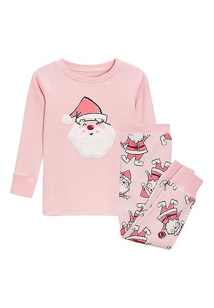 next Niñas Pijama Abrigado con Aplique De Papá Noel (9 Meses - 8 Años)