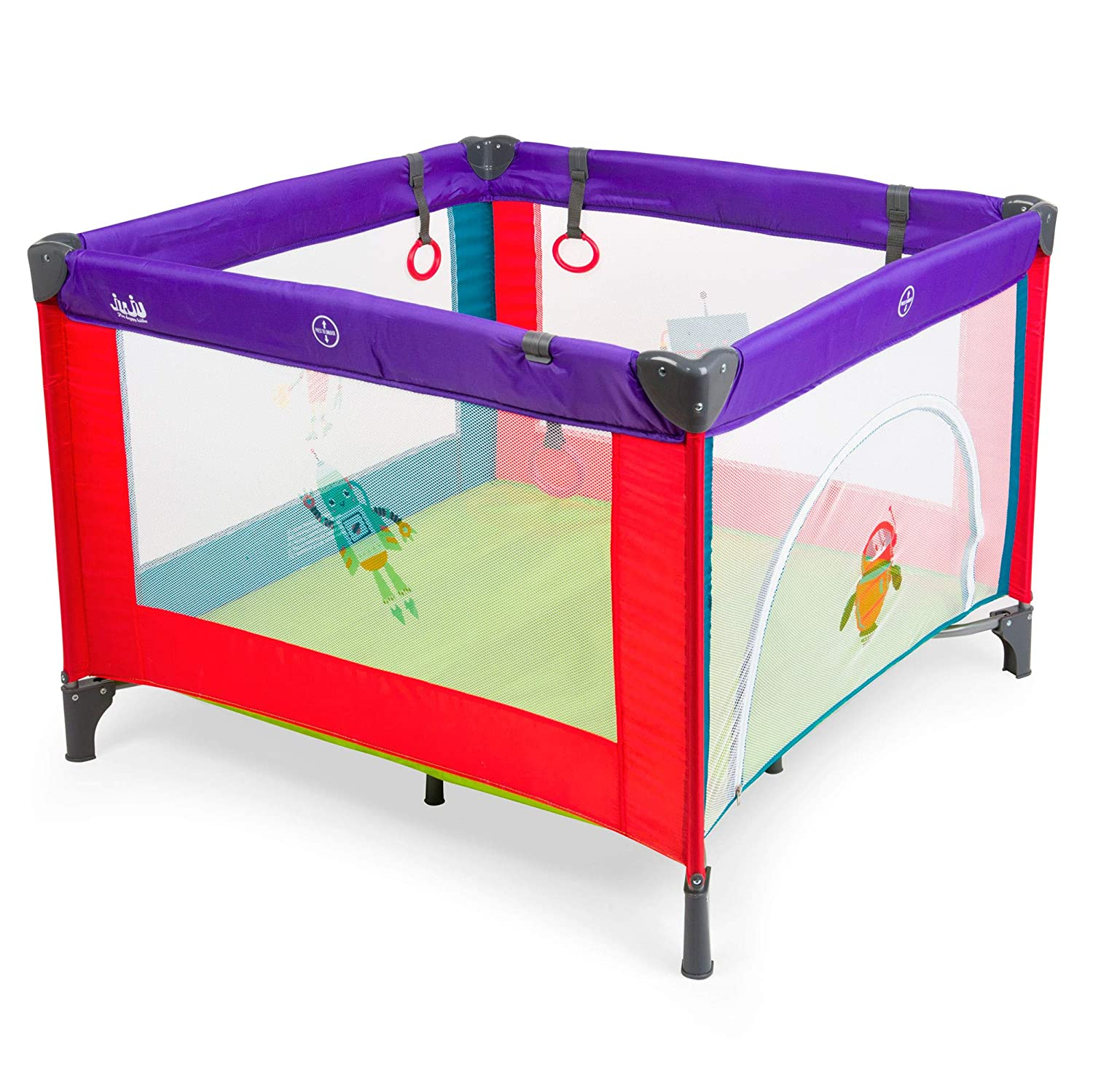 Juju Discovery Space Robo Playpen, Multicoloured Dot Com Investment SRL