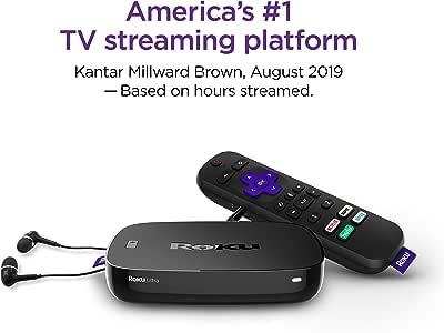 Roku Ultra | Streaming Media Player 4K/HD/HDR with Premium JBL Headphones 2019 (Renewed)