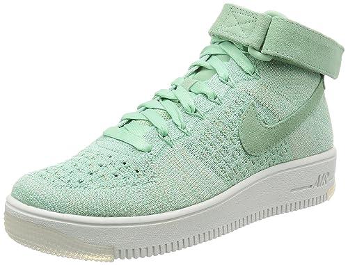 4d9e3b988047 Nike Women s AF1 Flyknit Enamel Green Enamel Green Basketball Shoe 7 Women  US
