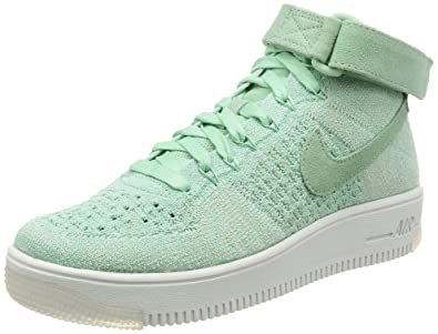 separation shoes d9873 f6d24 Nike Womens AF1 Air Force 1 Flyknit Hi Top Trainers 818018 ...